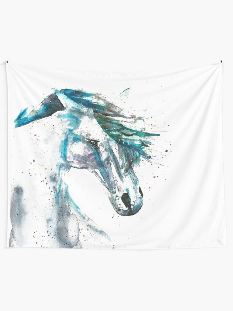 Alternate view of Last Unicorn/Horse Tapestry