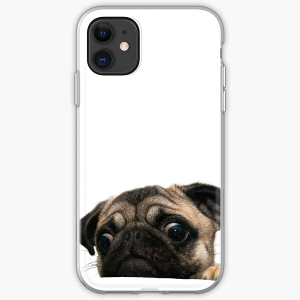 Worried Pug iPhone Soft Case