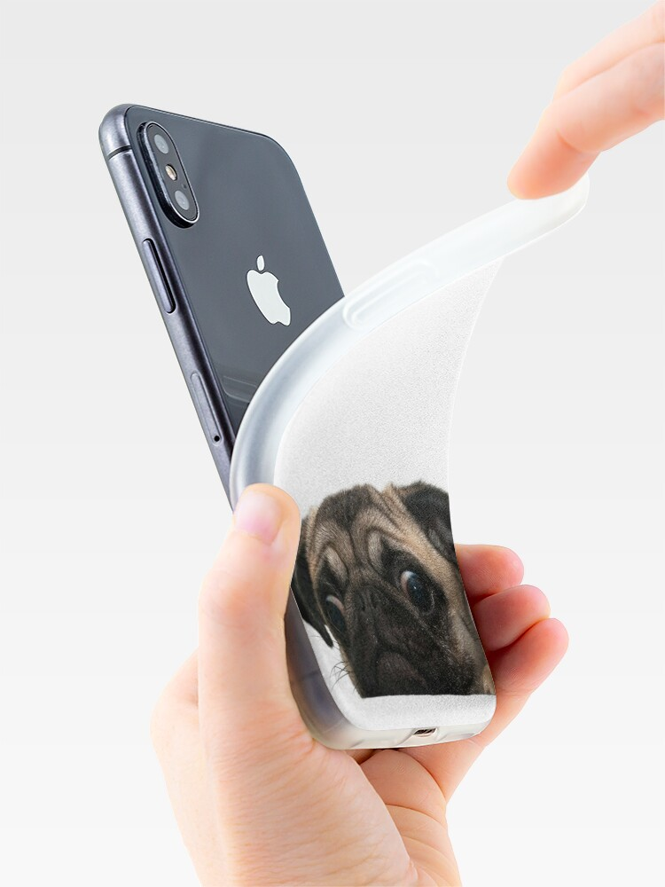 Alternate view of Worried Pug iPhone Case & Cover