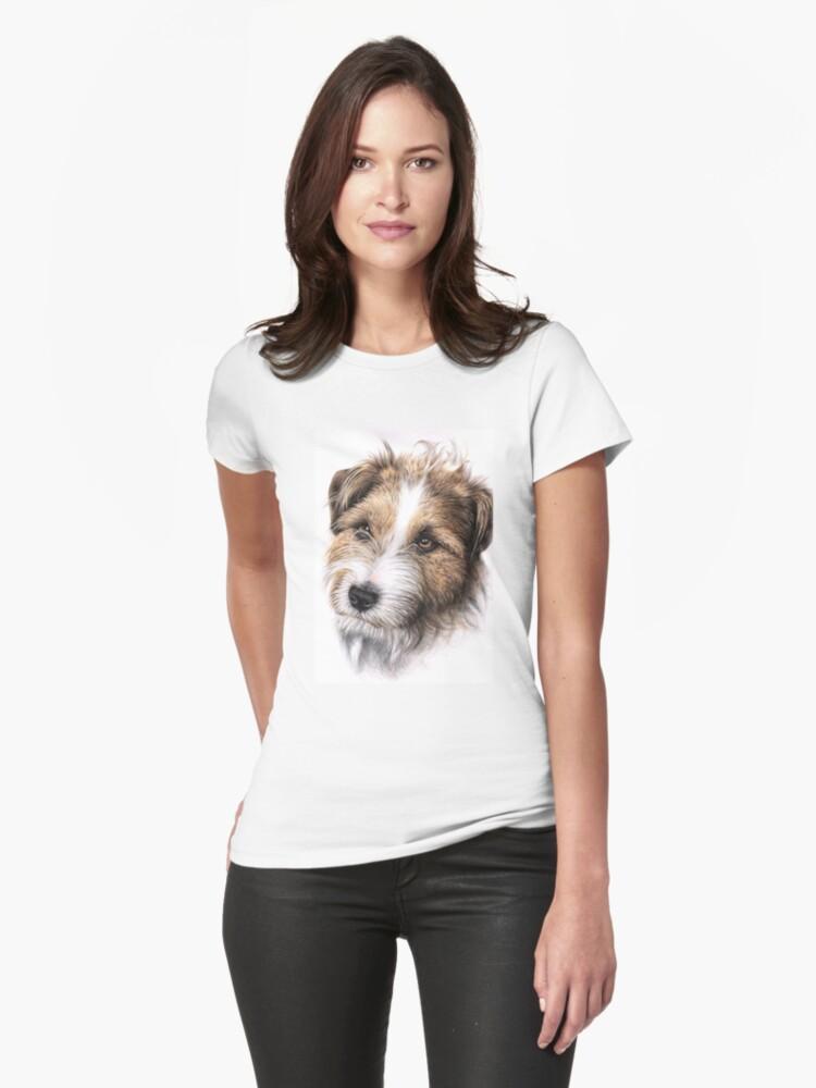Jack Russell Terrier Portrait Womens T-Shirt Front
