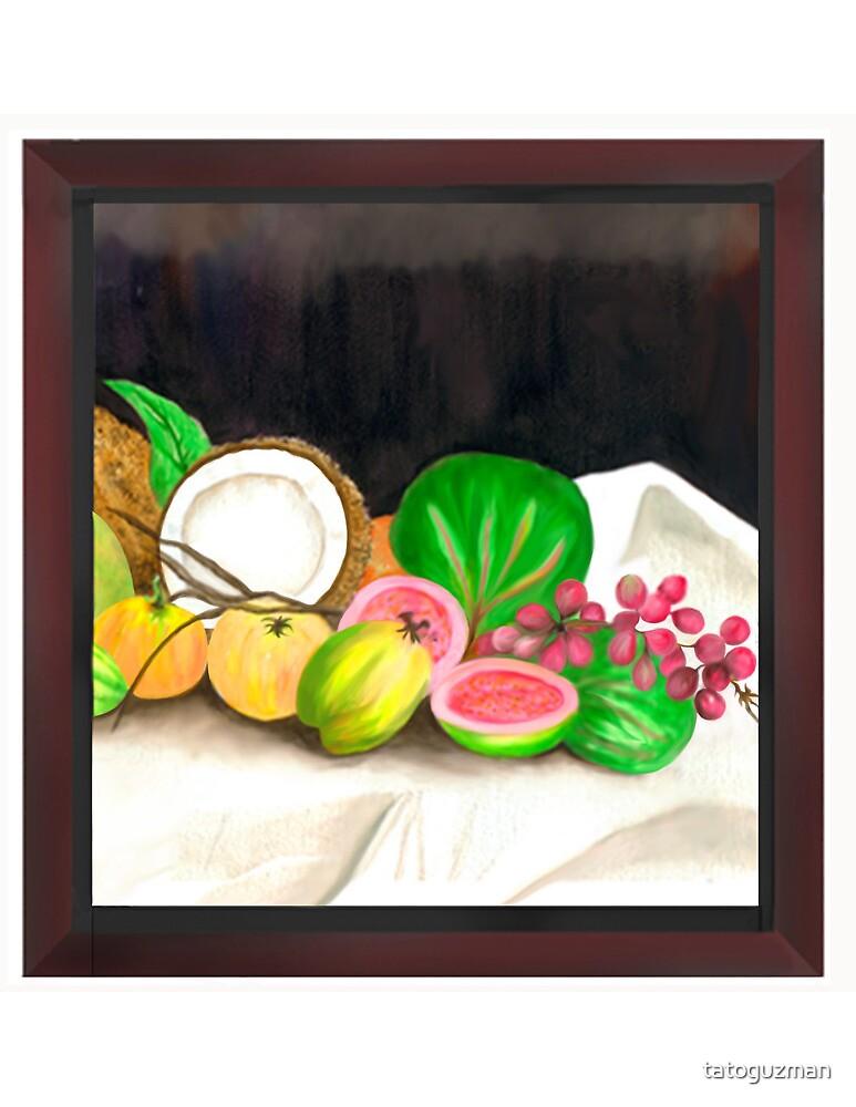 Puertorican Beach Grapes Plus Fruit Friends by tatoguzman