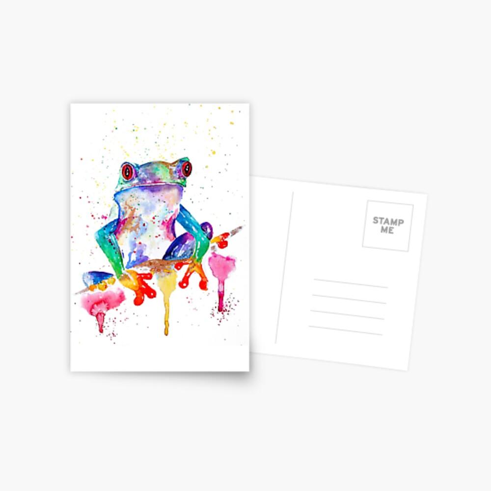 Kiss a frog Postcard