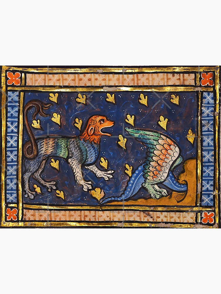 THE LION AND DRAGON Medieval Bestiary by BulganLumini
