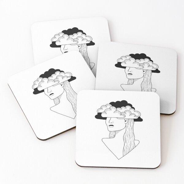 Cloudy head Coasters (Set of 4)