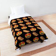 Love My Hot Dog Emoji JoyPixels Hotdog Cartoon Comforter