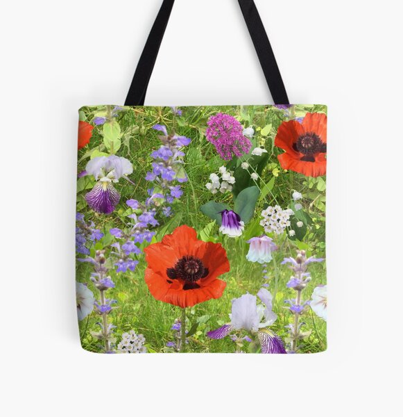 Late May in the yard by Tea with Xanthe All Over Print Tote Bag