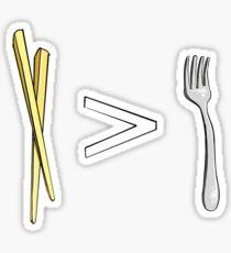 Chopsticks > Forks Sticker