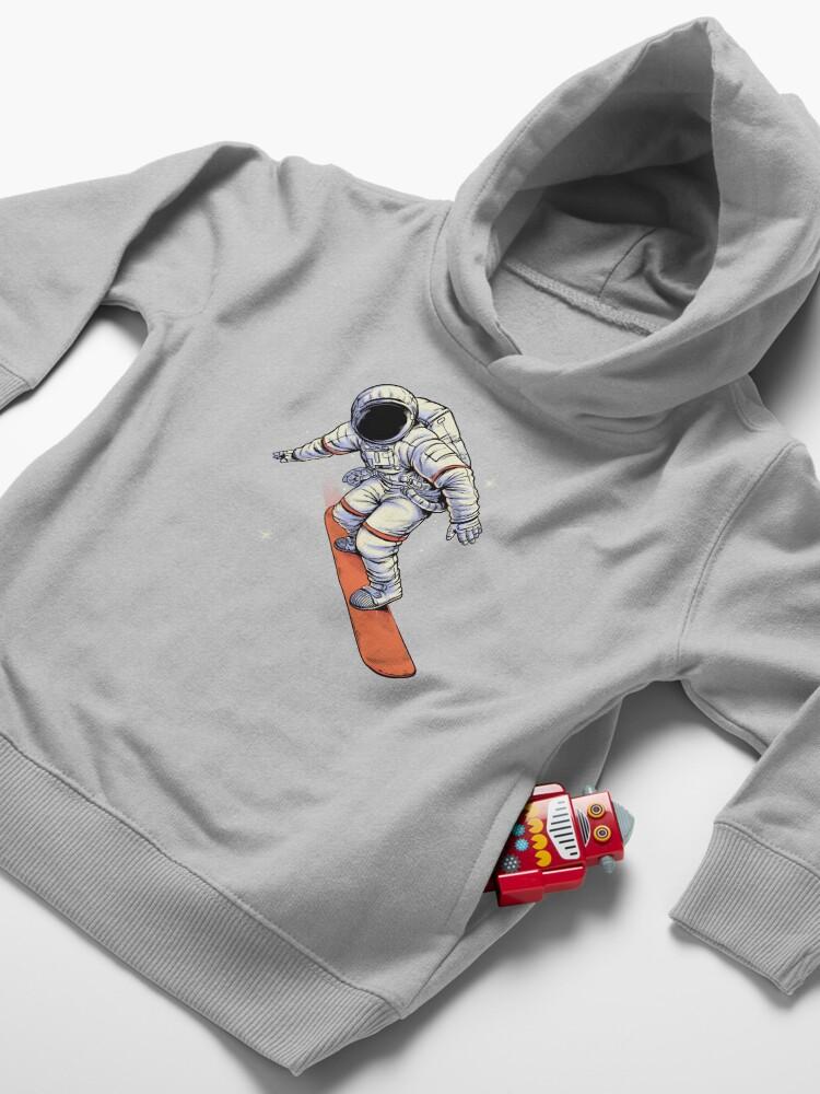 Alternate view of Spaceboarding Toddler Pullover Hoodie