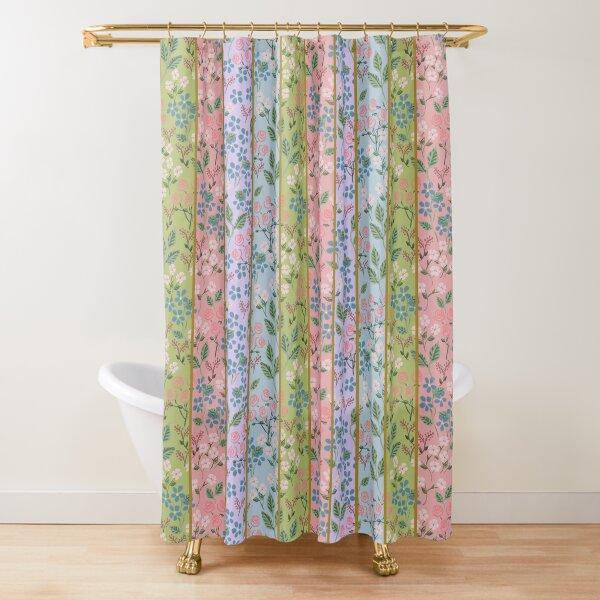 Art Nouveau Stripe by Tea with Xanthe Shower Curtain
