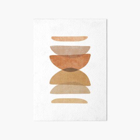 Warm abstract shapes Art Board Print