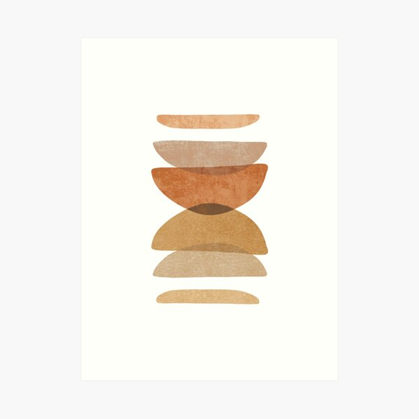 Warm abstract shapes Art Print