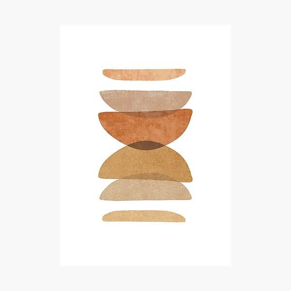 Warm abstract shapes Photographic Print