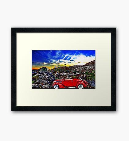 A Drive In The Desert Framed Print