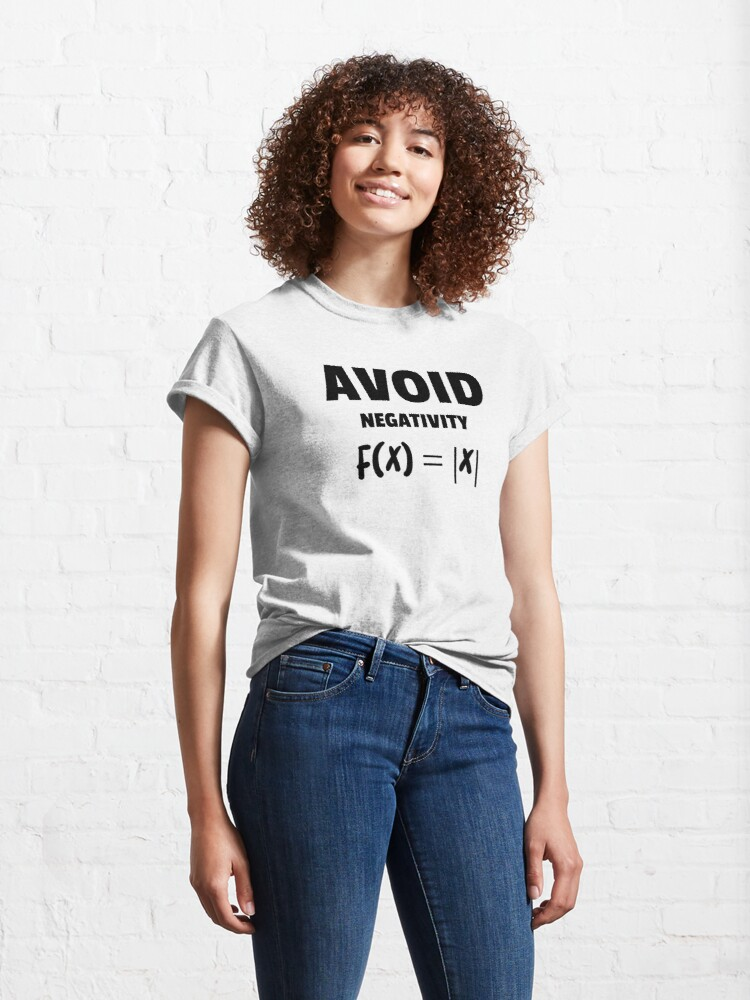 Alternate view of Avoid Negativity Love for Maths  Classic T-Shirt