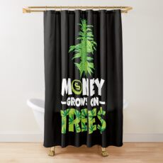 Savvy Turtle Money Grows On Trees Shower Curtain