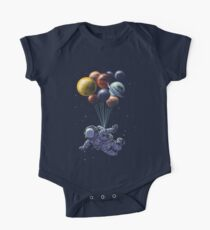 Space Travel Short Sleeve Baby One-Piece