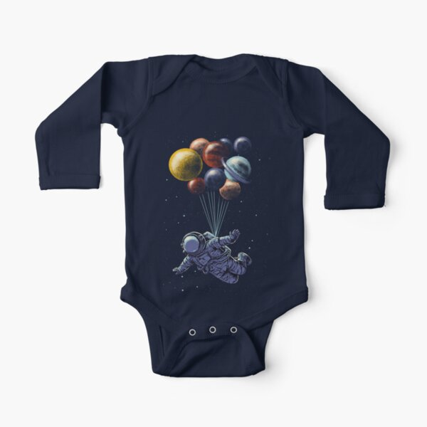 Space Travel Long Sleeve Baby One-Piece