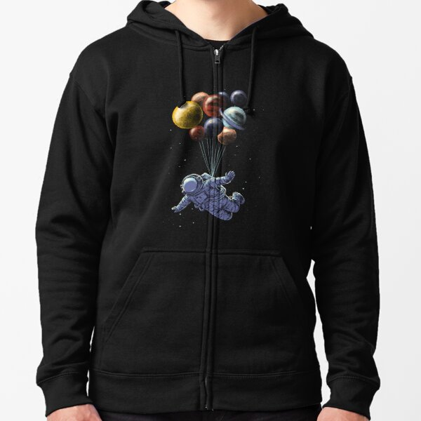 Space Travel Zipped Hoodie
