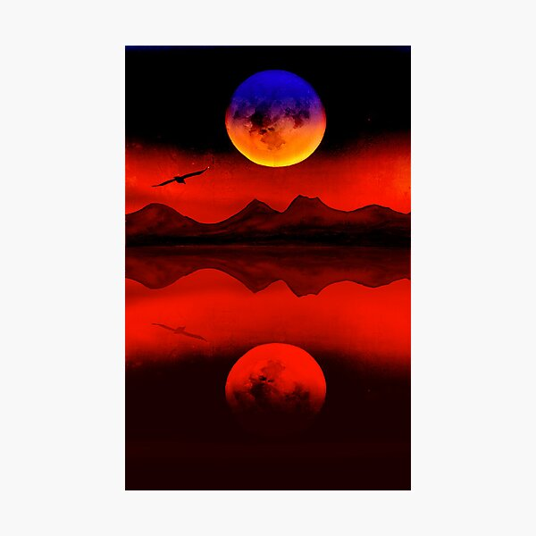 Rainbow Moon Photographic Print