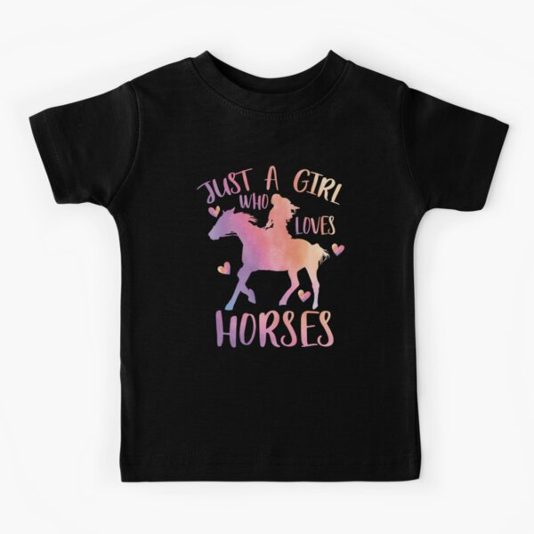 one-of-a-kind 11-13 junior size large Rust Western horse Equine Design T-shirt Dark orange