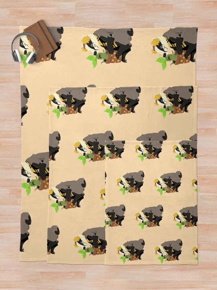 Alternate view of Gardener badger Throw Blanket