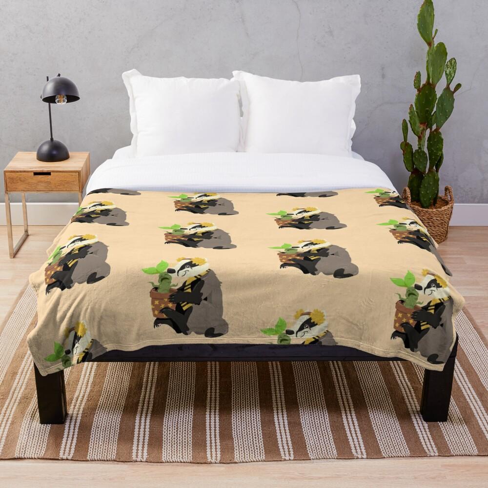 Gardener badger Throw Blanket