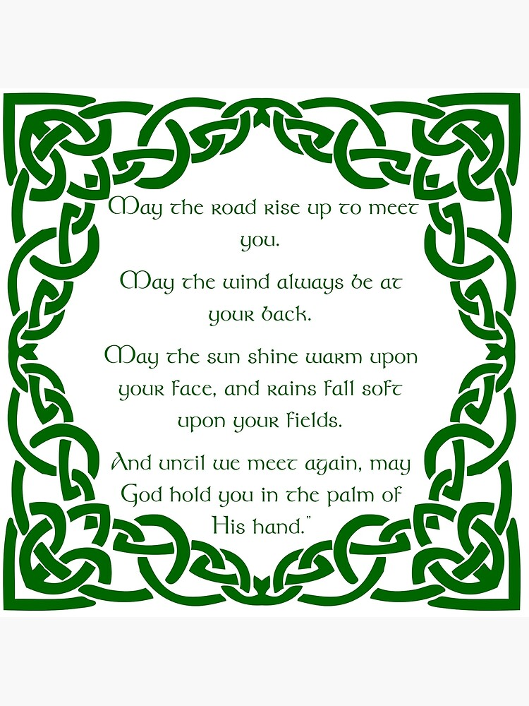 """May the road rise up to meet you - Traditional Irish blessing"""" Greeting  Card by harrizon 
