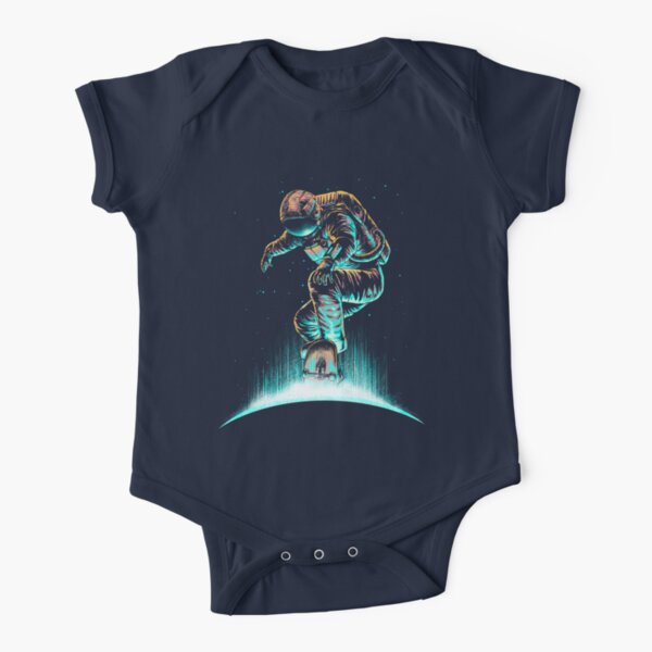 Space Grind Short Sleeve Baby One-Piece
