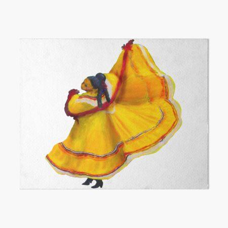 Baile Folklorico Vestido Amarillo Art Board Print