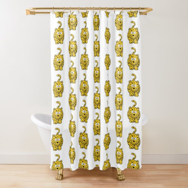 Fun Leopard Shower Curtains Redbubble