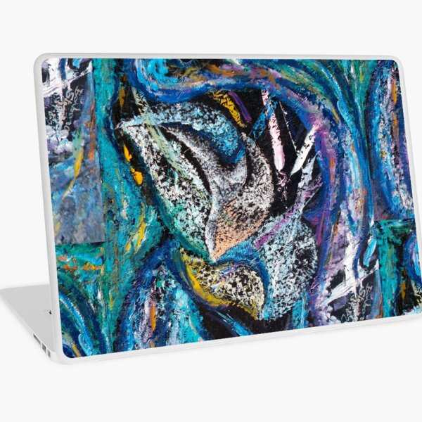 Blue Lily Abstract Art Laptop Skin