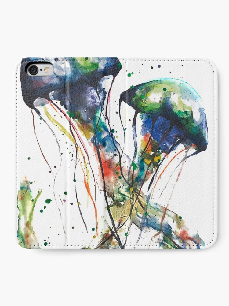 Alternate view of JellyFish Mating Dance iPhone Wallet