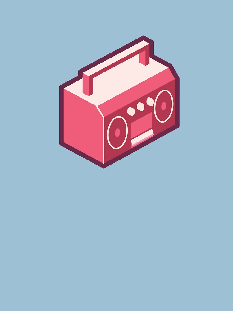 Pink Boom Box by a-roderick