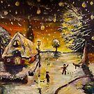 Warm Winter Painting by Richard Jackson