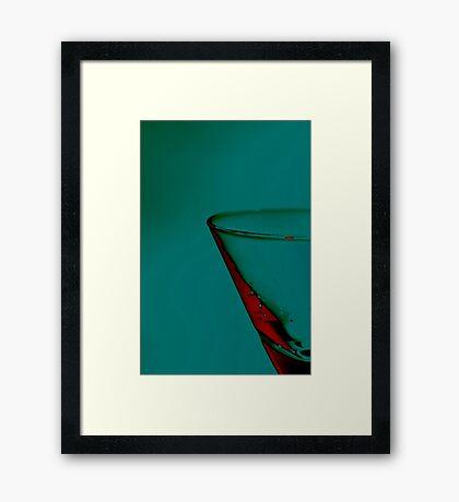 Glass in Green... Framed Print