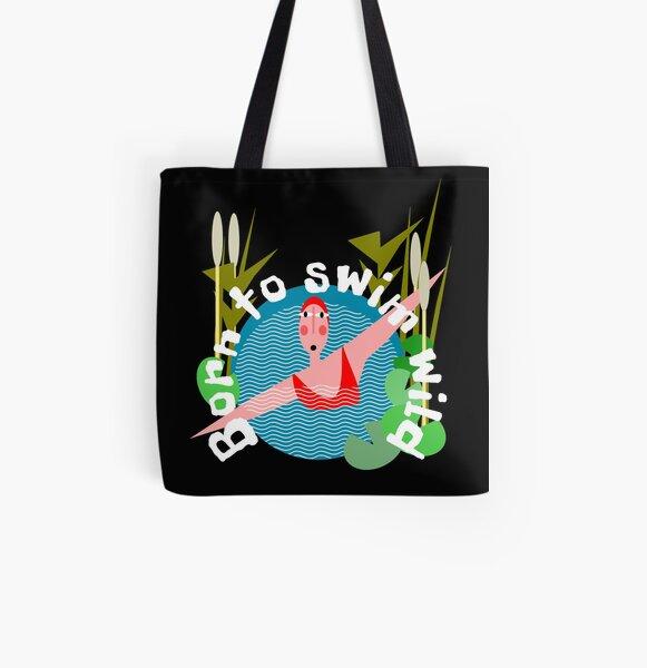Born to Wild swim All Over Print Tote Bag
