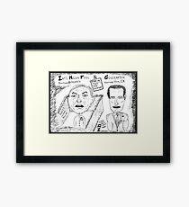 Men Behaving Badly  Framed Print