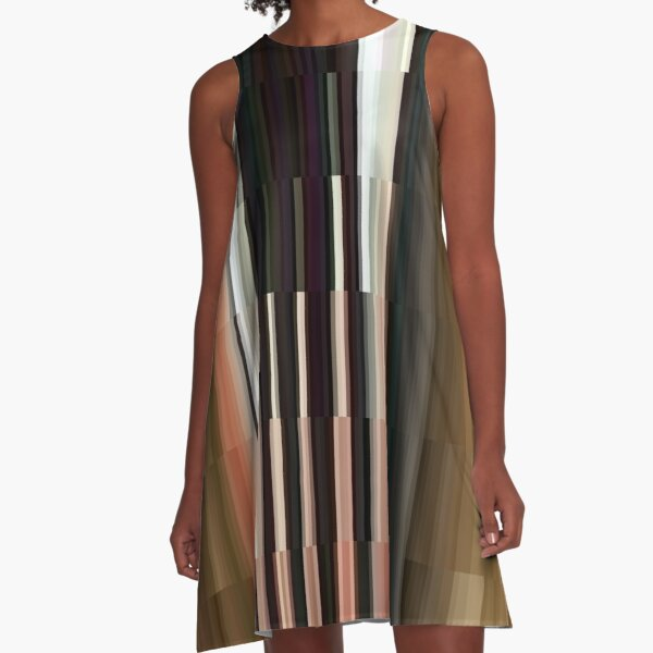 Pattern, #Pattern, #design, #tracery, #weave A-Line Dress