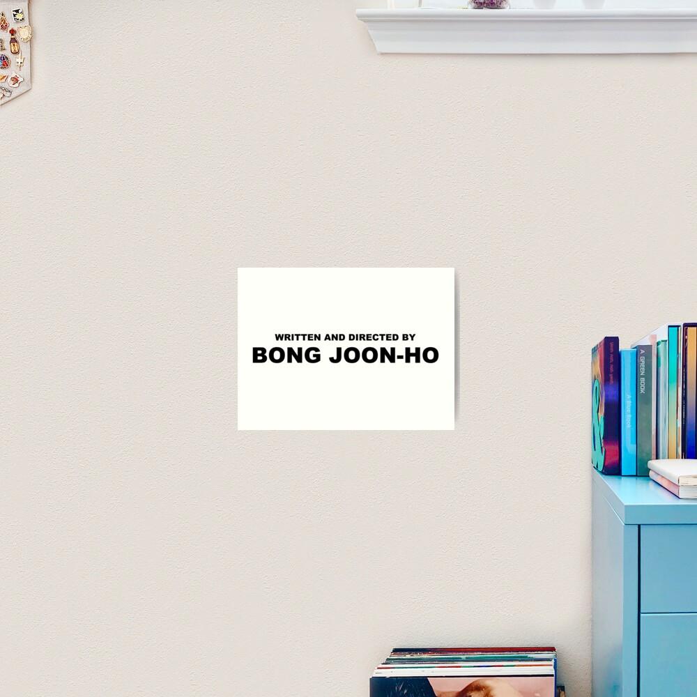 Written and directed by BONG JOON-HO Parasite Korean Film Art Print