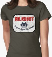 Mr Robot - Computer Repair With A Smile Women's Fitted T-Shirt