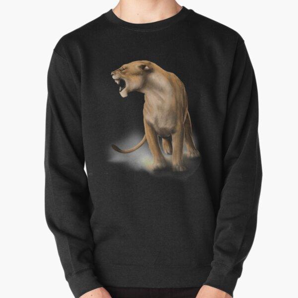 African lion, lioness attack Pullover Sweatshirt