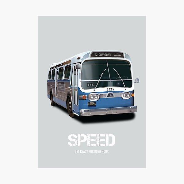 Speed - Alternative Movie Poster Photographic Print