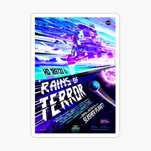 Vintage Rains of Terror Alien Exoplanet Travel Sticker