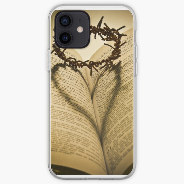 Crown Of Thorns with Open Bible iPhone Soft Case