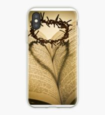 Crown Of Thorns with Open Bible iPhone Case
