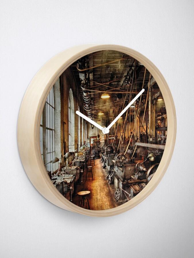 Alternate view of Machinist - Machine Shop Circa 1900's Clock