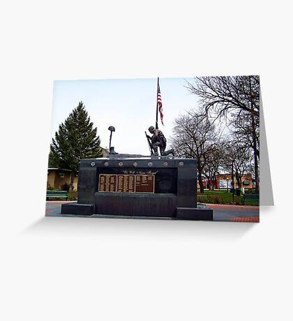 Veteran's Memorial - Depot Park Greeting Card
