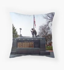Veteran's Memorial - Depot Park Throw Pillow