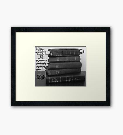 The Word Framed Print