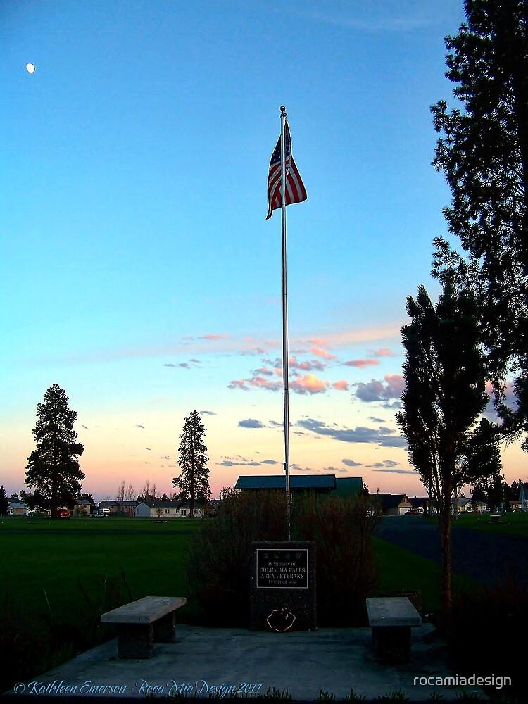 Old Glory Dusk (Veteran's Memorial) by rocamiadesign